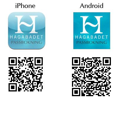 Hagabadets bokningsapp för iPhone Och Android